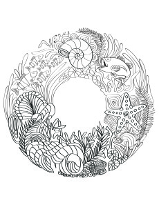 lilt kids garden ocean adult coloring book image - Coloring Book Pages For Adults 2