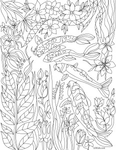 lilt kids garden magic adult coloring book image