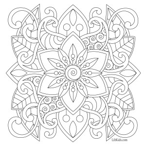 Lilt Kids Free Easy Mandala Adult Coloring Book Image