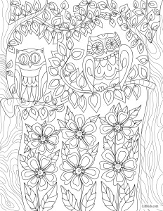 lilt kids garden magic owl adult coloring book image