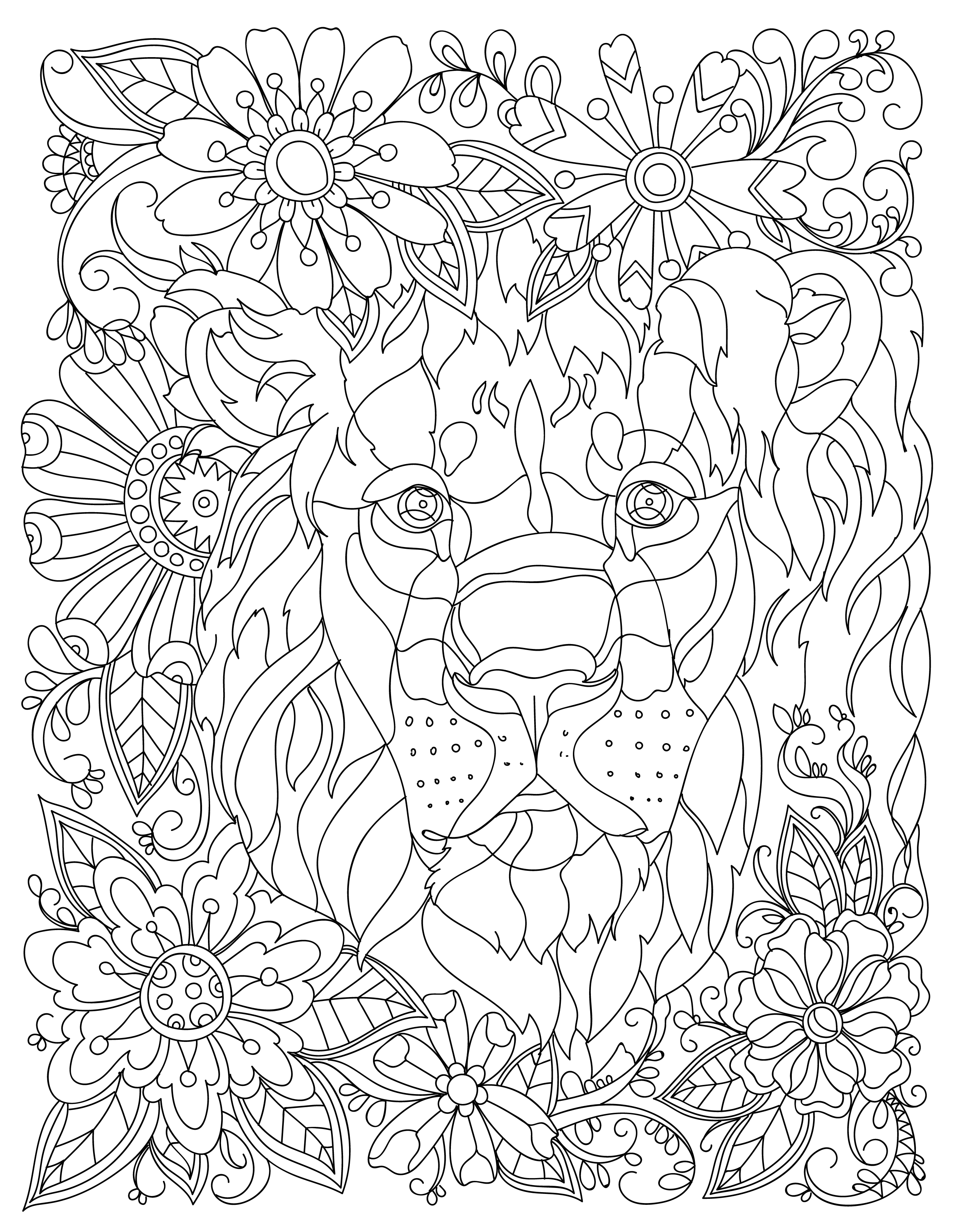 Animal Adult Coloring Book Stress
