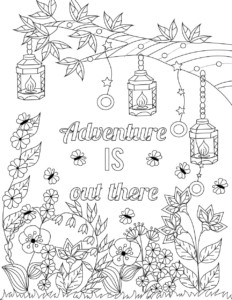 Lilt Kids Free Coloring Page: Adventure is out there