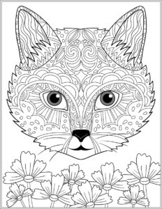 Cat Adult Coloring Sheet